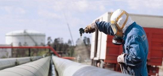 Покраска газовых труб Промышленные альпинисты Москва и Московская область (ООО Альпинисты-М)