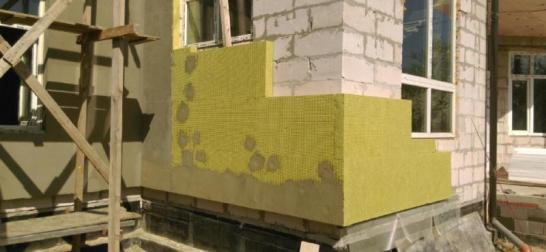 Монтаж мокрого фасад альпинистами