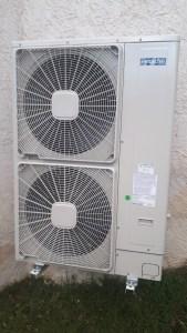 Unité extérieur pompe à chaleur Hitachi Saint Martin d'Uriage 2020