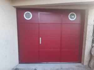 Porte de garage avec portillon St Ismier 2020