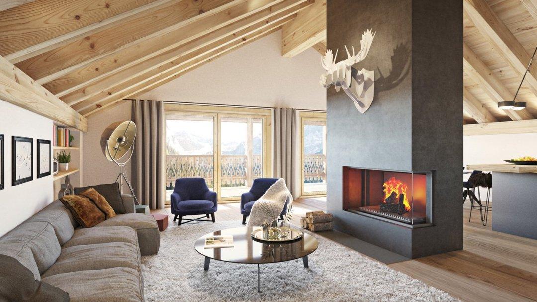 Le Montagnier Living Room