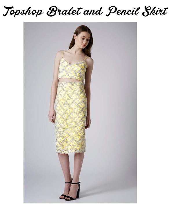 yellow bra and skirt