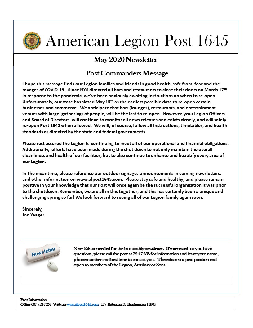 PAGE 1 - Newsletter