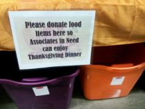 Collection Bins for Employee Thanksgiving