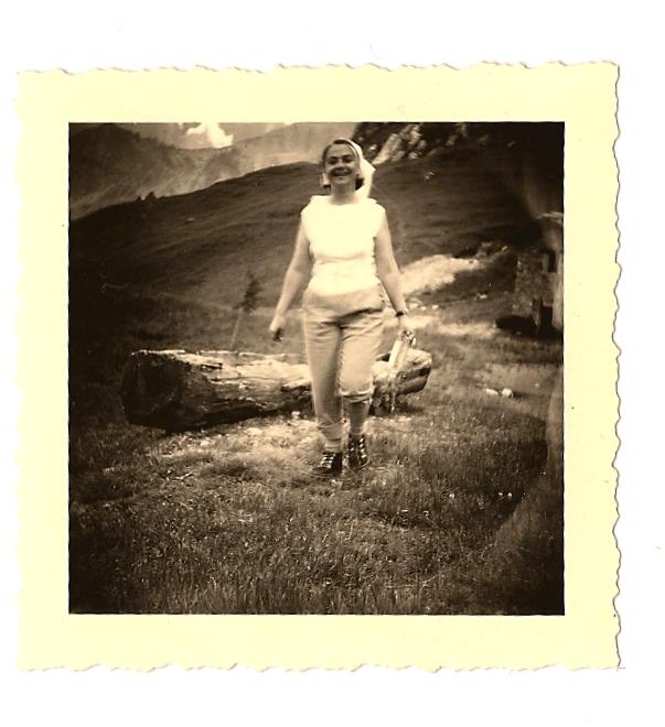 mia madre al col Checrouit, 1958