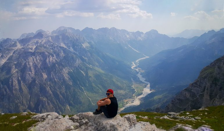 Kollata view hiking Albania Montenegro