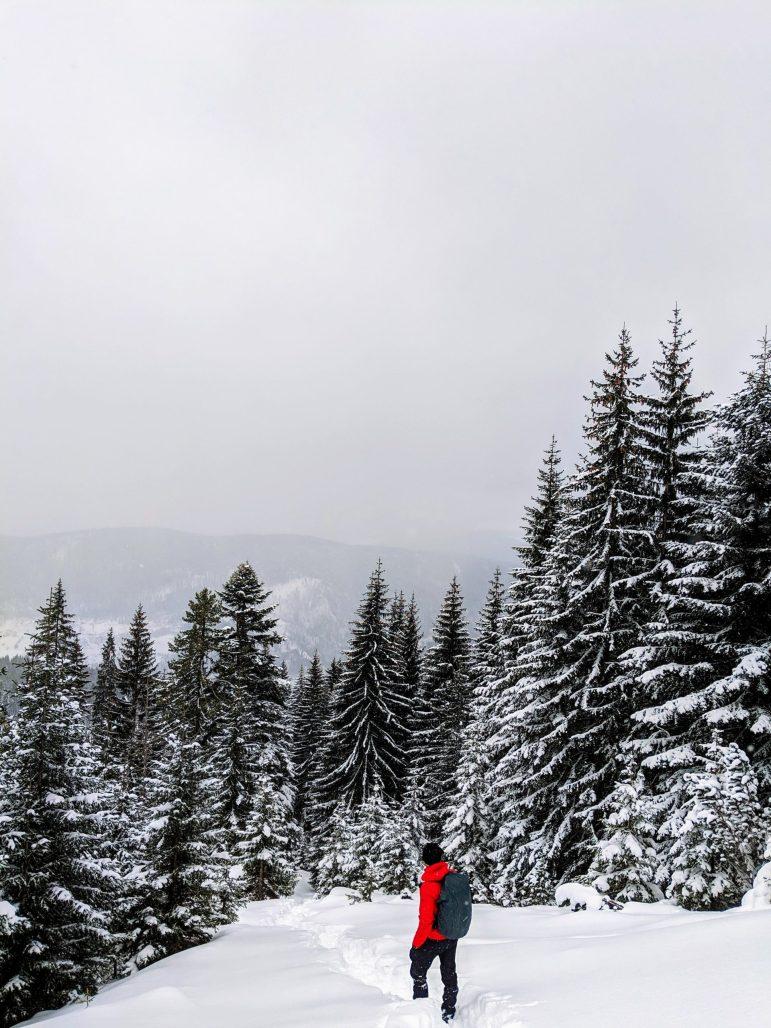 Liqenat Rugova hiking winter
