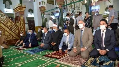 صورة محافظ أسيوط أدي صلاة عيد الأضحى المبارك بمسجد ناصر بحي وسط تطبيق الإجراءات الاحترازية