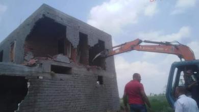 صورة محافظ بورسعيد : إزالة أربع حالات تعد بناء مخالف بدون ترخيص
