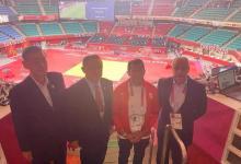 صورة وزير الرياضة يلتقي رئيس اللجنة الأولمبية اليابانية خلال حضوره منافسات دورة الألعاب الأولمبية