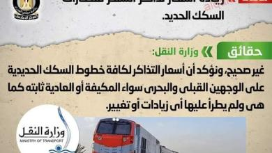 صورة شائعة: زيادة أسعار تذاكر السفر لقطارات السكك الحديد
