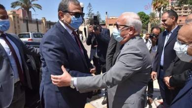 صورة محافظ بورسعيد يستقبل وزير القوى العاملة بديوان عام محافظة بورسعيد