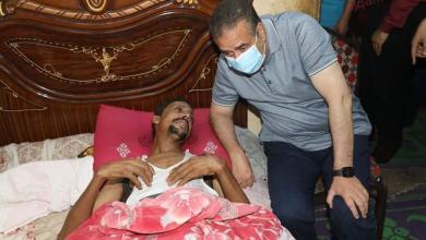 صورة محافظ المنوفية يزور مصابي لقمة العيش بشنوان