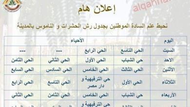 صورة المتابعة اليومية لرش أحياء العبور