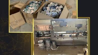صورة ضبط مصنع غير مرخص لتصنيع وتعبئة الأدوية بالشرقية