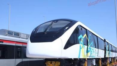 صورة قطار المونوريل الذي يدخل مصر لأول مرة أحد وسائل الجر الكهربائي الحديثة