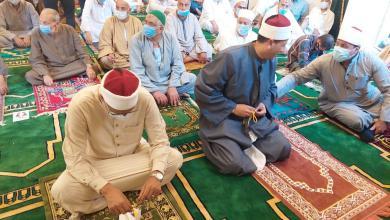 صورة بالجهود الذاتية| فعاليات افتتاح مسجد عتلم أحد أهم المعالم الدينية بالغربية.