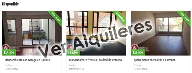 Apartamentos para alquilar en Montevideo Uruguay
