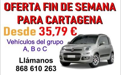 OFERTA PARA CARTAGENA FIN DE SEMANA DESDE 35,79 €