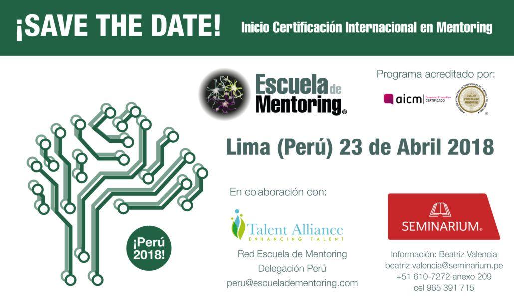 En Abril 2018 iniciamos Certificación Internacional en Mentoring en Perú