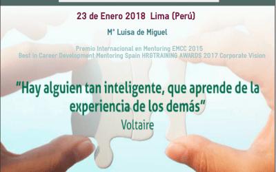 23 de Enero Conferencia sobre mentoring en Lima Peru