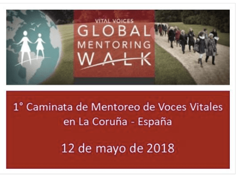 Formo parte del Comité organizador del Mentoring Walk La Coruña 2018