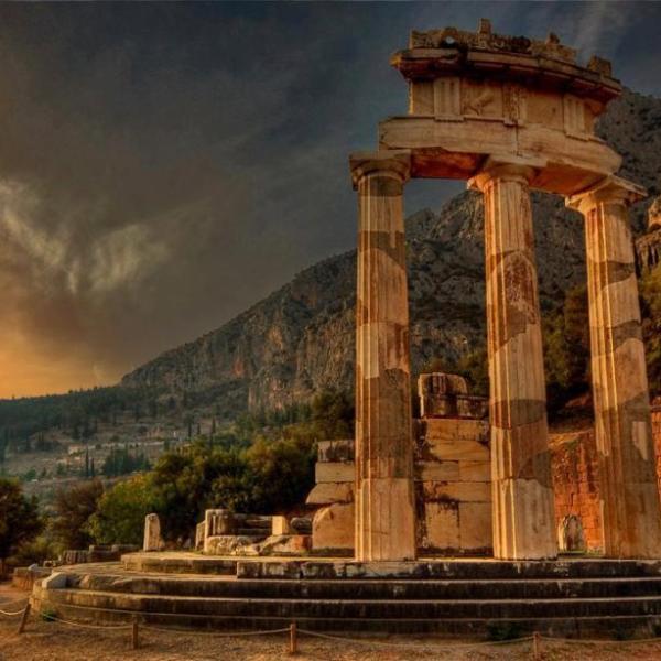 Imagen del Oráculo de Delfos
