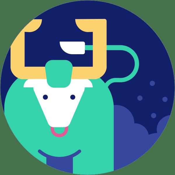 Dibujo de un toro para el signo Tauro