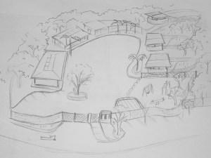 Dibujo del lugar