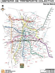 Mapa del metro de la Ciudad de México