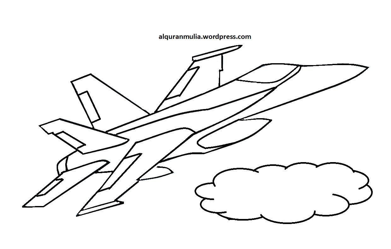 Gambar Mewarnai Pesawat Tempur Wwwimagenesmicom