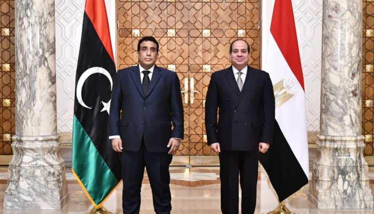 الرئيس السيسي يستقبل رئيس المجلس الرئاسي الليبي