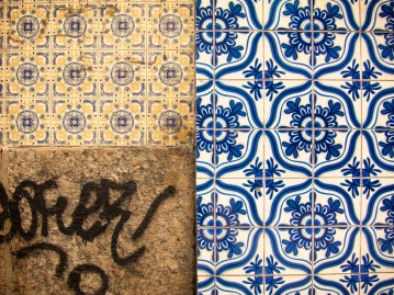 Scruffy details in Rio's Santa Teresa district.