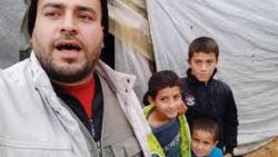 لاجئ سوري ينشد بصوت يقطع القلب