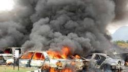 انفجار ضخم في مطار عدن باليمن