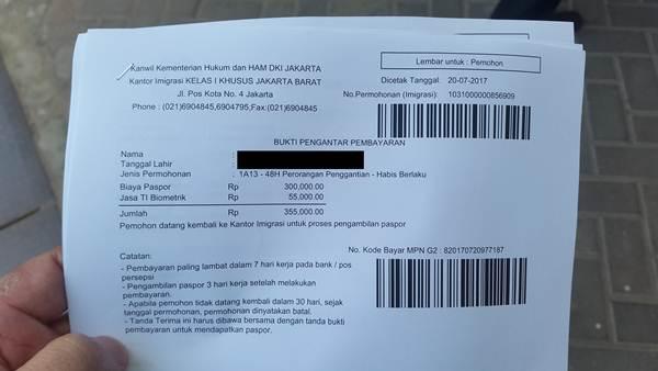slip pembayaran paspor image