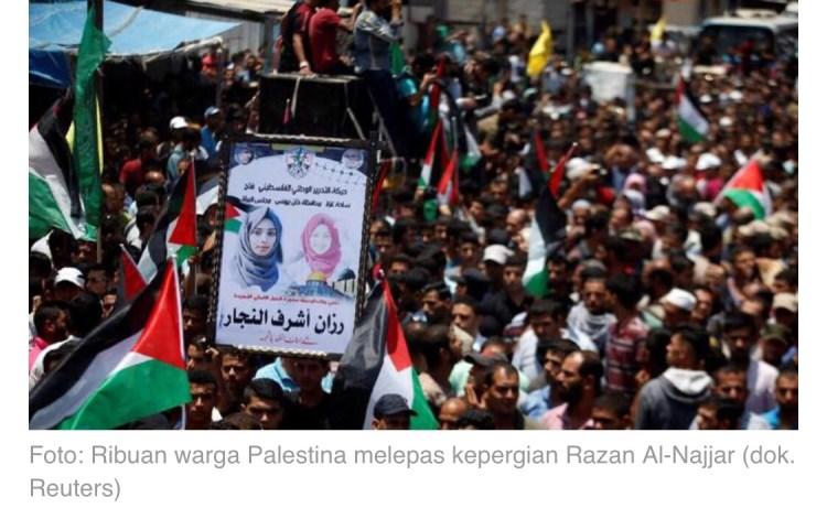 Pemakaman Razan Rajjar Angel of Mercy