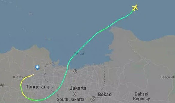 flightpath jt610 lion air - flightradar