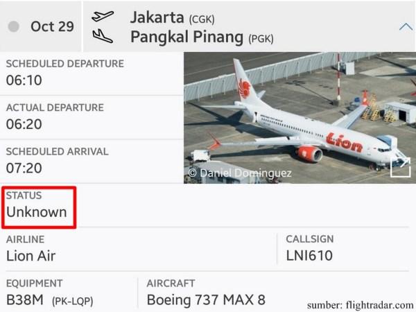 lionair-jt610-unknownstatus-flightradardotcom