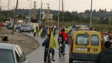 صورة مسيرة دراجات هوائية من صور الى نصب الحاج عماد مغنية في طيردبا