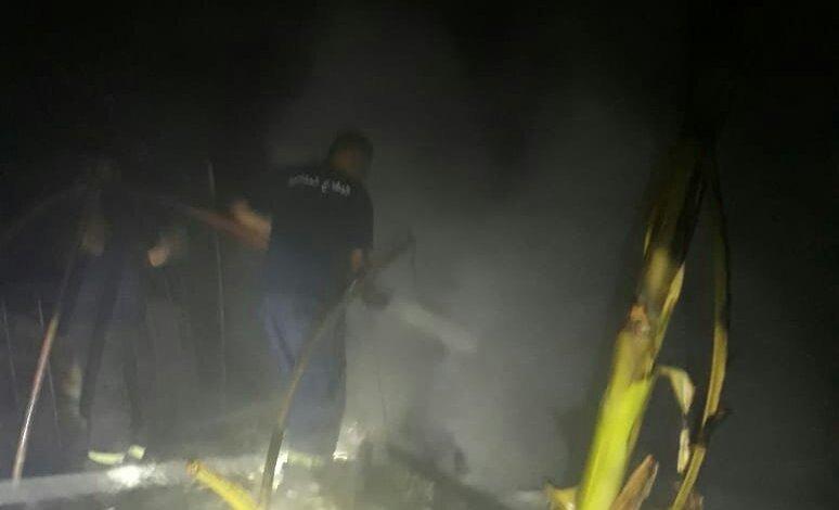 السكسكية : حريق غرفه لعمال بنغاليين قرب مستشفى الفقيه