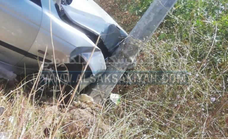 حادث سير على الطريق البحري لبلدة عدلون
