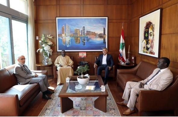 سفير السنغال يودع عون، بري ودياب والحريري