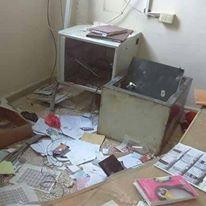 صورة نهب وسلب لجامعات الحسكة في ظل سيطرة الميليشيات الكردية