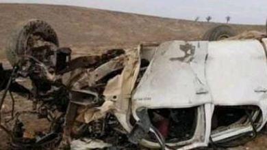 صورة سيارات للميليشيات الايرانية تقع بكمين لتنظيم داعش ببادية ديرالزور