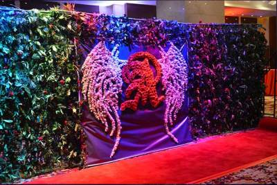 entrance at oscars themed debut event