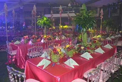 table setting at debut party