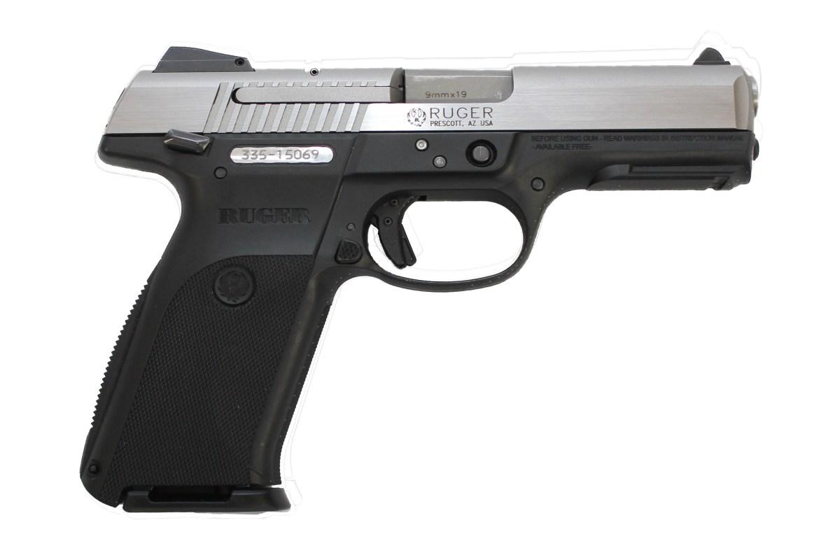 Used Ruger Sr9 Semi Auto Striker Fired 9mm Pistol 12837r