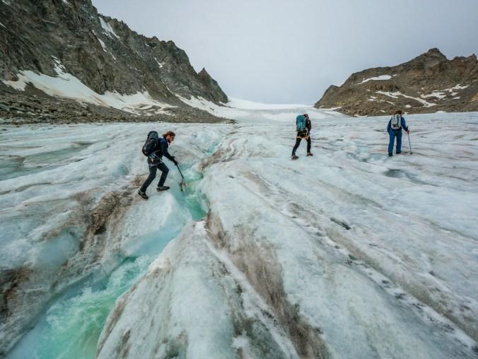 Gletscherfluss überspringen