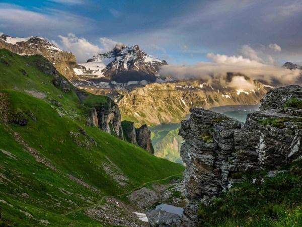 Blick vom Ruosalper Chulm zum Gross Schärhorn